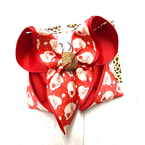 Vintage Santa Claus ~ Fun Hairbow by iBOWZ Fun & Funky Hairbows