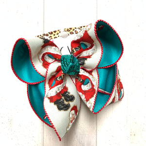 Vintage Santa Clause Fun Hairbow by iBOWZ Fun & Funky Hairbows