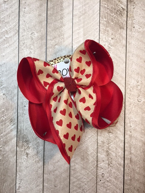 Valentine day iBOWZ | Heart hair bow | Boutique Hair bows | bows