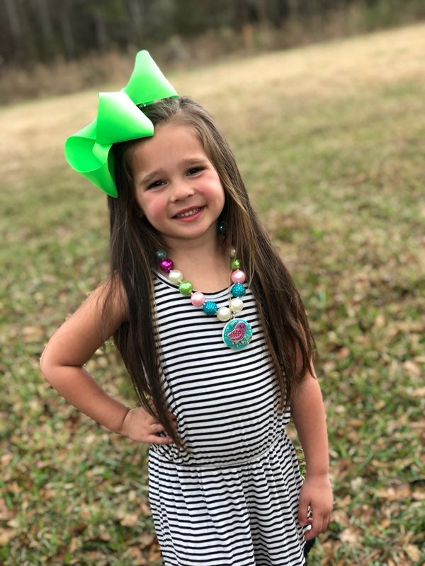 BASIC SOLID HAIRBOW | Waterproof Solid Bows | Over 100 Color choices
