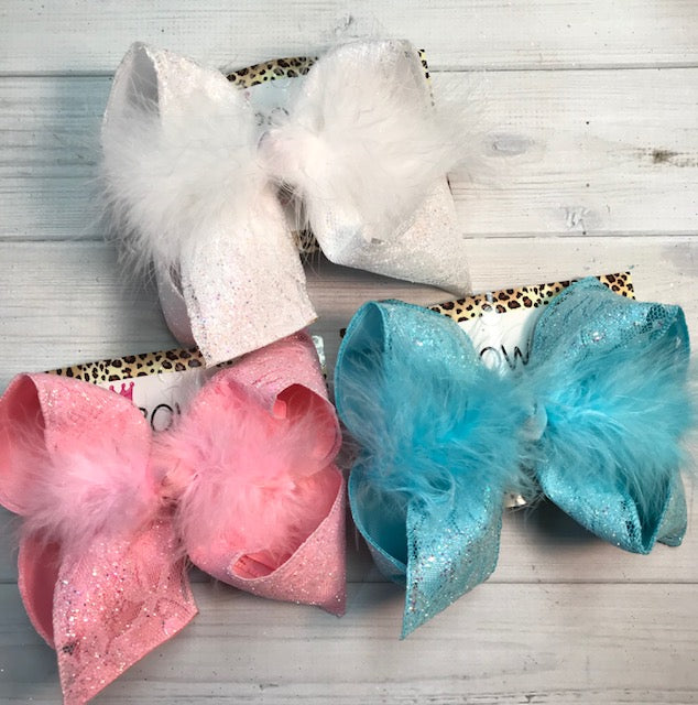 Glitter Lace  | Sparkle Glitter Lace Fun bows | Sparkle glitter |Choose your color | HairBow by iBOWZ