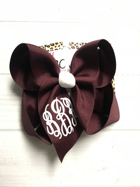 Bundle ~ New Dark Denim & Burgundy & Gold Monogram  iBOWZ ~ Surprise Release ~ Perfect Fall Bow