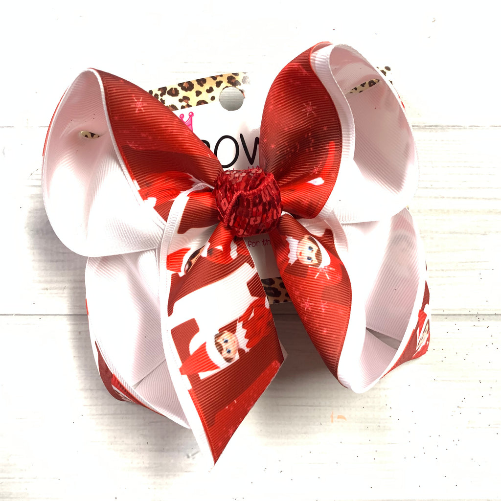 iBOWZ ~Christmas in JULY  ~ Elf on the Shelf ~ fun Hairbow