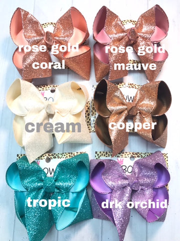 Sparkle Glitter Fun Bows |Lots of Colors Available | Glitter Hairbows