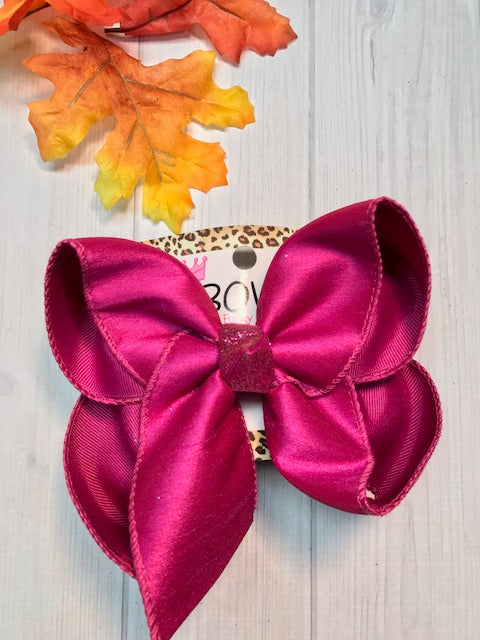 Fuchsia Dressy Fall iBOWZ | Hairbow | Baby bow | Big Mega Bow