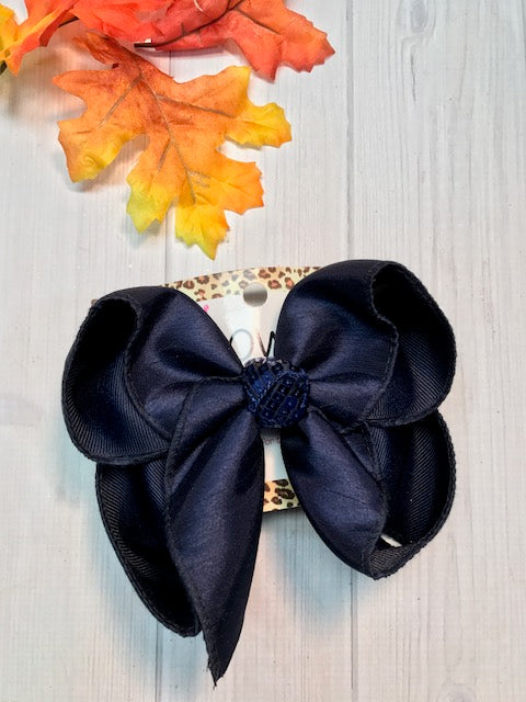 Navy Dressy Fall iBOWZ | Hairbow | Baby bow | Big Mega Bow