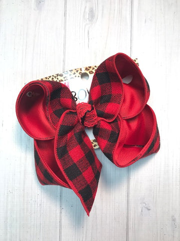 Buffalo Check Flannel Plaid hair bow by iBOWZ | Fall plaid