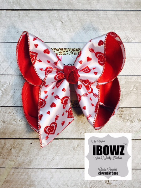 Valentine's Day Fun Bow | Valentine's Day Parties | Hearts & Love & Leopard