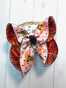Halloween Witches Hat + Polka Dots  + Black and Orange Zebra Stripes |New Limited iBOWZ | Perfect Christmas Hairbow | iBOWZ Fun & Funky Hairbows