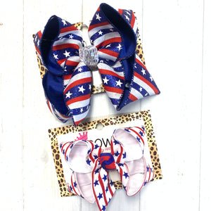 Stars & Stripes Patriotic Fun bows ~ Perfect for all Your Red/ White/ Blue Holidays