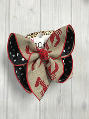 New Limited Release Crawfish Fun bow | Stripes or Polka dot