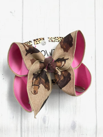 New & Limited Horse Fun bow | Choose your own colors | Perfect for Horse shows