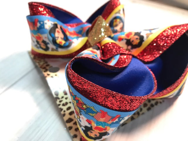 Wonder Woman ~ New Fun triple layer +  Red glitter, Royal, Yellow