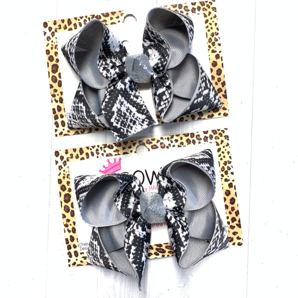 SnakeSkin Fun Hairbow ~ iBOWZ Fun & Funky Hairbows
