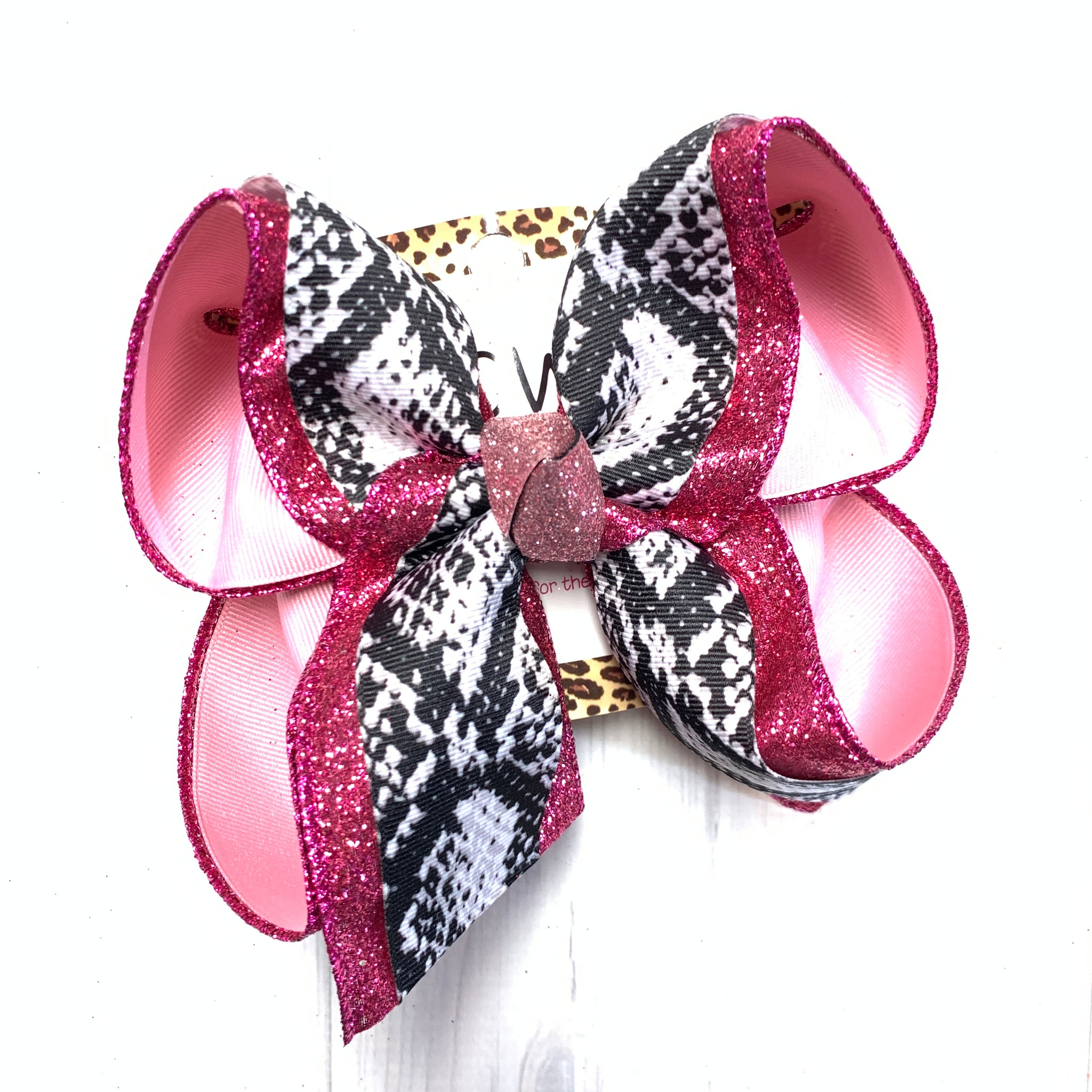SnakeSkin Triple Layer Fun Hairbow ~ iBOWZ Fun & Funky Hairbows