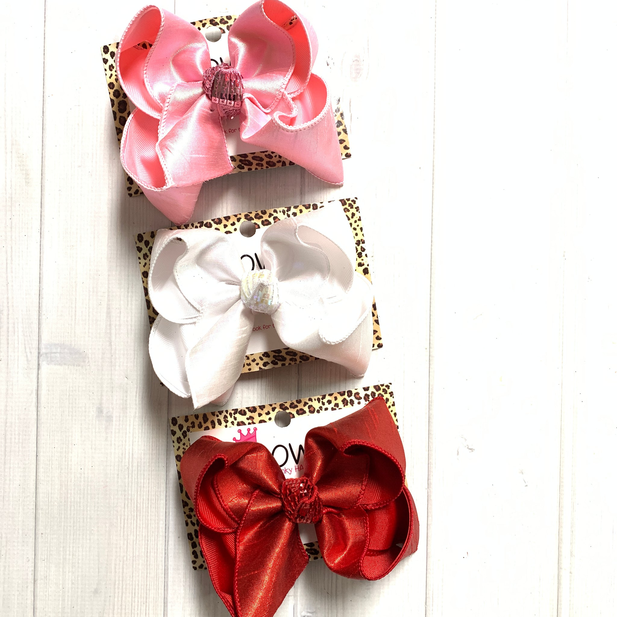 Valentines Day Metallic Silk Fun iBOWZ | Choose your bow color | Perfect for Valentines Day  outfits