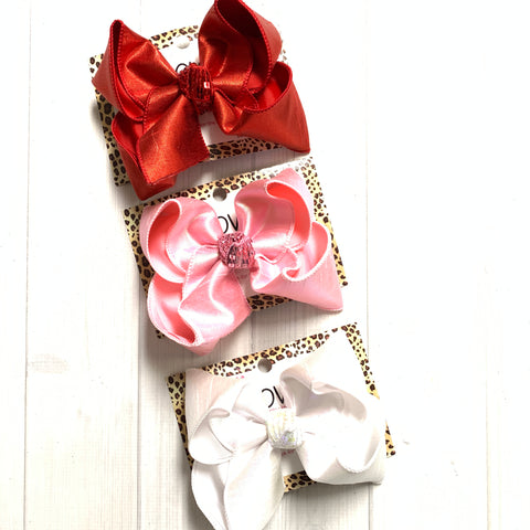 Valentines Day Must have Metallic Silk BUNDLE iBOWZ | Every Girl needs a little sparkle in there Life