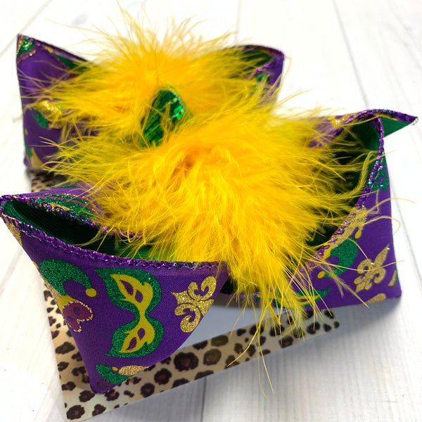 MARDI GRAS Bundle Fun bows ~ Perfect for Parades ~ Hairbows by iBOWZ