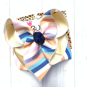 New Release~ Stripes Fun Hairbow ~ M2M Matilda Jane & Wildflowers