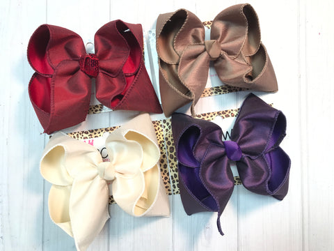 New Dressy Fall Bundle Hairbows by iBOWZ | Fall Hues + Silky Bows