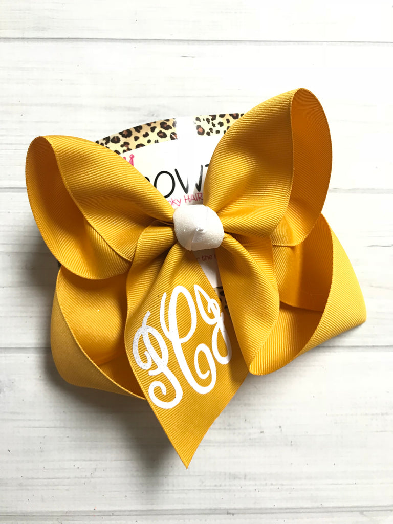 Gold Monogram Triple Initial iBOWZ ~ Surprise Release ~ Perfect Fall Bow