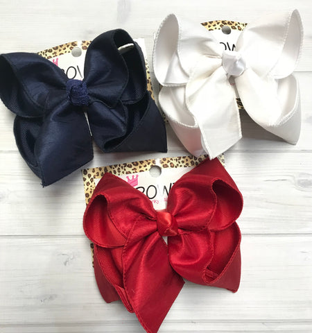Navy / White / Red Silk Duponi iBOWZ | Dress up or Dress down ! ~ buy one or BUNDLE all and SAVE $$!!