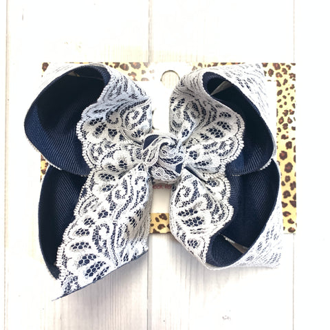 Vintage Lace ~ Navy Lace Vintage iBOWZ