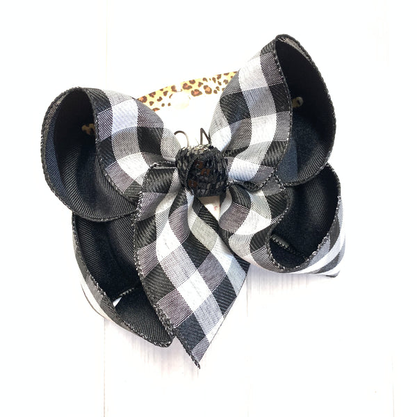 Buffalo Plaid Fall Fun Bow  ~ ibowz fun & funky hairbows