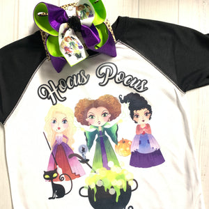 Tee ONLY ~ Hocus Pocus~ One of a Kind Fun iBOWZ ~ Halloween Bow~ iBOWZ ~ Limited Time Only