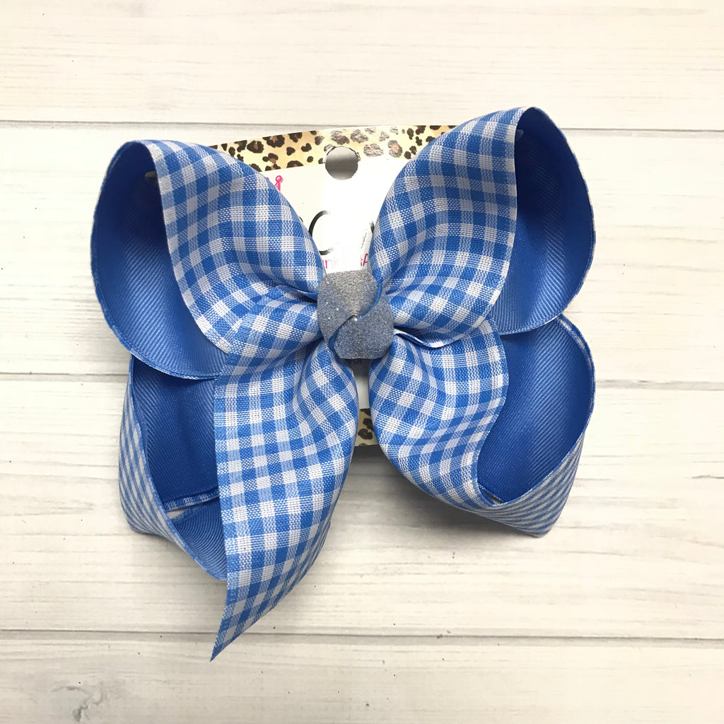 New Limited Blue Plaid Gingham fun iBOWZ | Limited Time