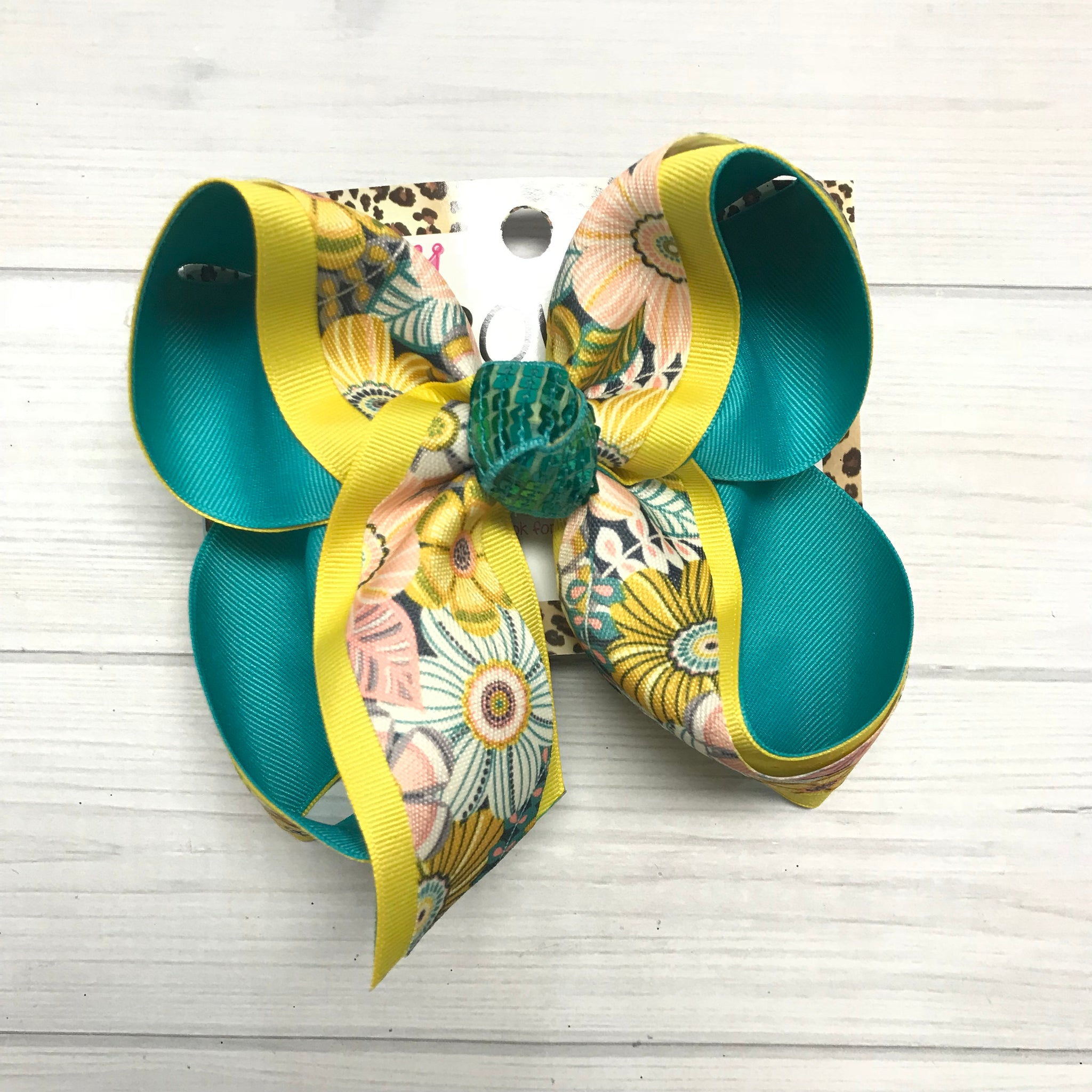 New Limited  Tropic Floral Fun bow | Hawaii , Tropic & Beach fun bow