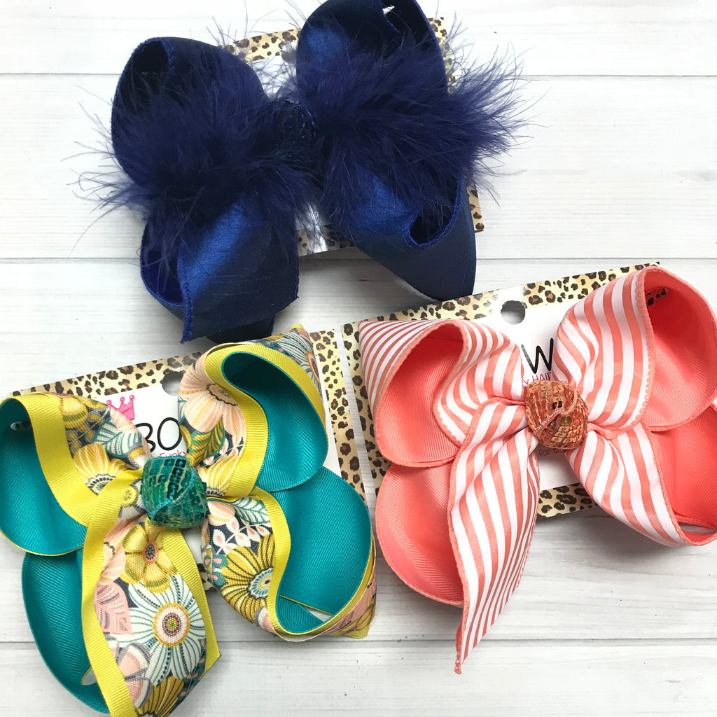 Bundle ~ Tropic Floral, Coral Stripes & Royal Silk Oh My! Bundle all & Save $3 Off!