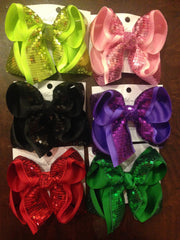 SEQUIN BLING HAIRBOWS