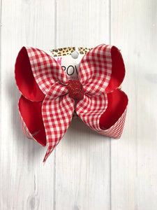 Red Gingham Summer Fun  Bow ~ Limited Time Collection