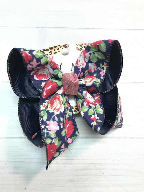 New Limited  Floral Navy iBOWZ on Navy