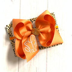 Fall Fun Monogram Triple Initial Monogram ~ Choose your bow color ~ by iBOWZ