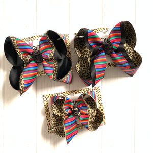 Serape + Leopard Fun iBOWZ ~ Several Styles to choose ~Hairbow