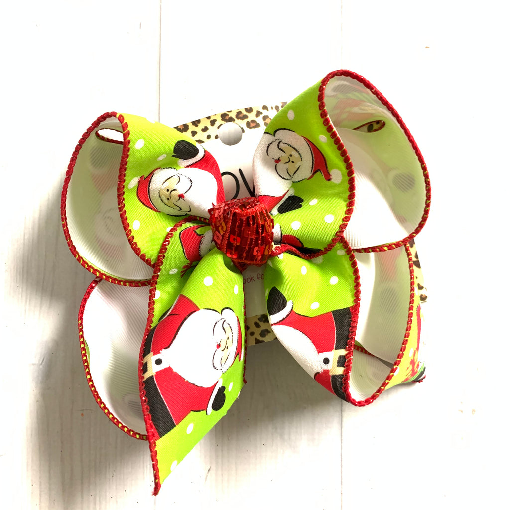 Santa's Christmas Trail Collection  ~ Santa Claus Fun bow   ~ New Limited Release