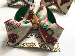 Faux Burlap Vintage Christmas Tree & Truck | Christmas  Fun iBOWZ ~ Sparkle Thursday Release
