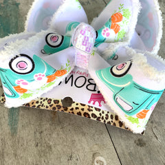 Easter Bunny & Vintage Truck Fun Bow ~ Hairbow by iBOWZ