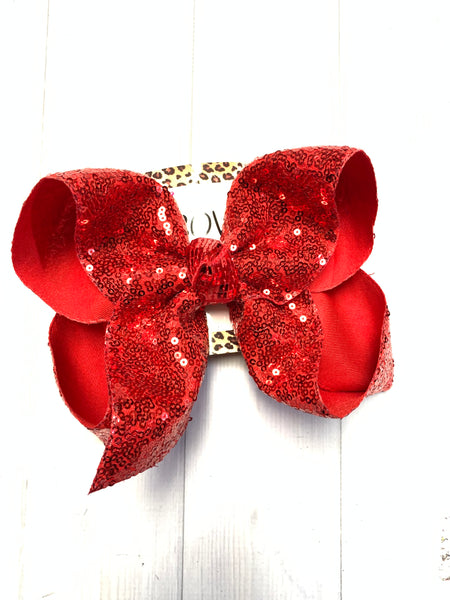Red White & Blue Sequin Fun iBOWZ| Choose your color | Jojo Siwa inspired bows | iBOWZ Fun & Funky Hairbows