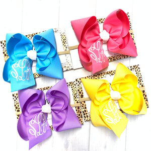 Bundle ~ Spring & Easter Pastel Triple Initial Monograms Hairbows