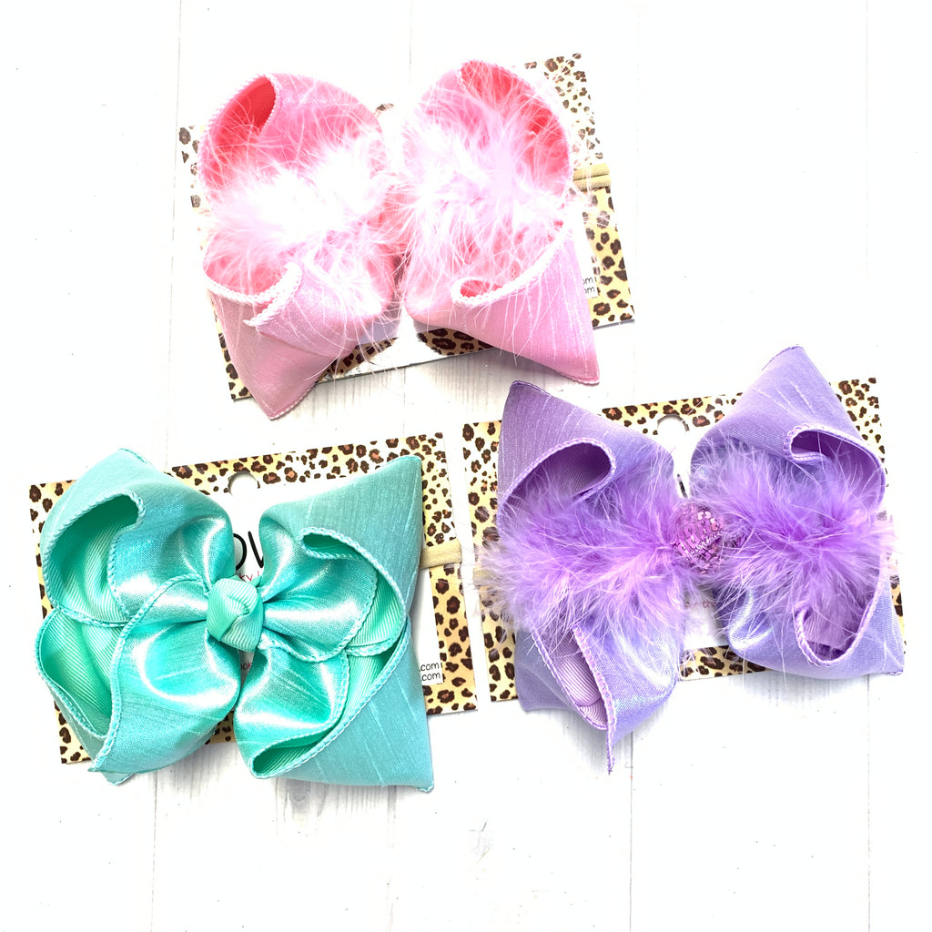 Spring Metallic Silk Duponi  ~ BUNDLE ~ Perfect Easter Bows in Pastel Colors