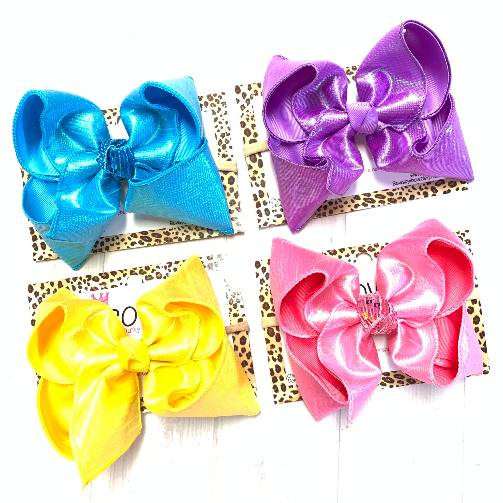 Spring #2 Metallic Silk Duponi  ~ Bundle ~ Perfect Easter Bows in Bright Springy Colors