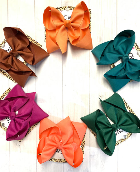 Jewel-tone Solid Bundle ~ Perfect Match for all your Favorite clothing brands~ iBOWZ Fun & Funky Hairbows