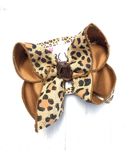New Leopard Burlap Fall Fun bow ~ Sparkle Thursday Release