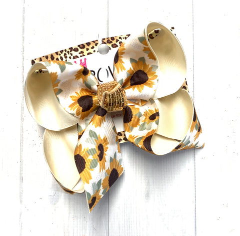 New Sunflower Fall Fun bow ~ Sparkle Thursday Release