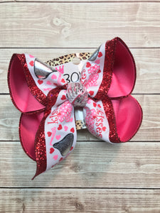 Valentines Hersey Kiss Fun Bow | 25 cent Kisses Anyone | Valentines Day Fun hair bow