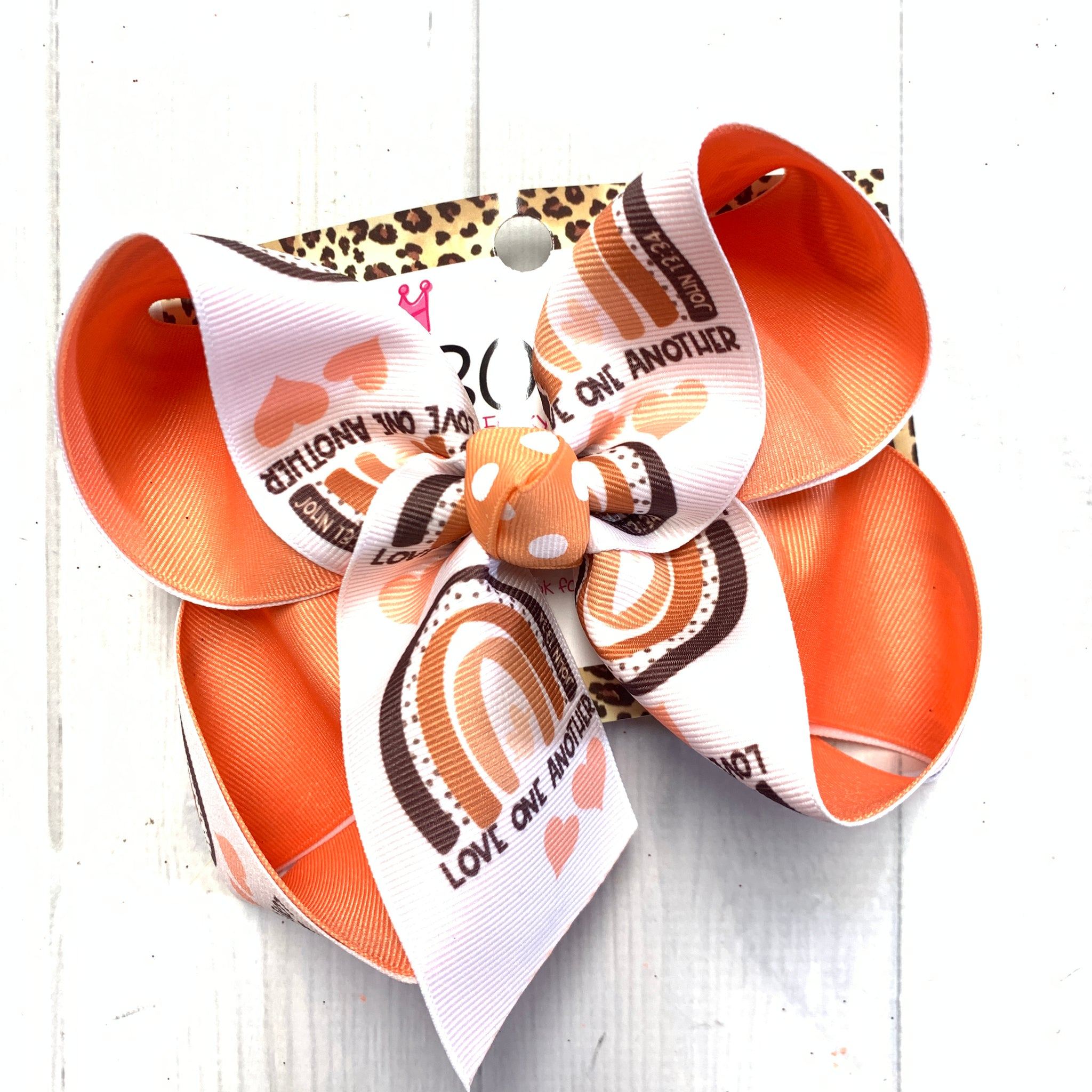 Love One Another Exclusive iBOWZ designs ~ Awareness Fun bow
