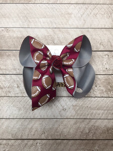 Mississippi State Football | Go Bulldogs | Ring the Bell | School colors| New Limited hair-bow Design
